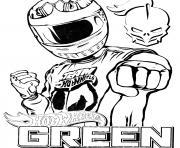 Hot Wheels Green Driver dessin à colorier