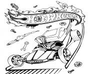 hot wheelss dessin à colorier