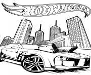 hot wheels pontiac g8 2 dessin à colorier