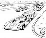 Hot Wheel voiture Competition dessin à colorier