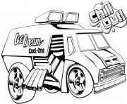Coloriage hot wheels ice cream truck