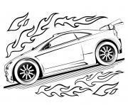 Coloriage Hot Wheels for Kids