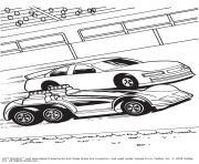 Hot Wheels voitures dessin à colorier
