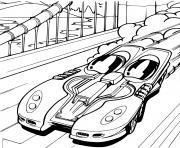 Hot Wheels Ferrari voiture dessin à colorier