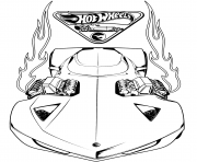 Coloriage hot wheels acceleracers