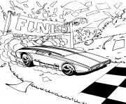 Hot Wheels voitures Finish dessin à colorier