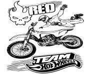 Team Hot Wheels Moto Fly jump dessin à colorier