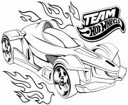team hot wheels dessin à colorier