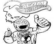 Coloriage Team Hot Wheels Driver Thumbup