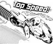 Top vitesse dessin à colorier