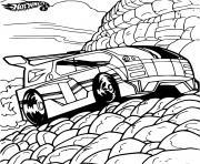 Hot Wheels Dodge Strong voiture dessin à colorier