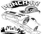 Coloriage Hot Wheels Punch It