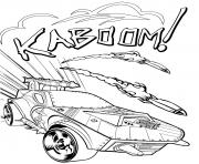 hot wheels kaboom dessin à colorier
