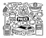icones de police dessin à colorier
