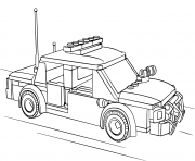voiture de police lego dessin à colorier