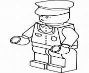 lego policier homme dessin à colorier
