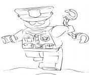 sergent police americaine dessin à colorier