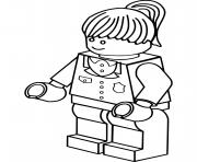 Coloriage lego police femme