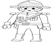 Coloriage police canadienne playmobil