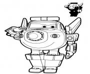 Coloriage police robot avion