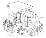 lego police ambulance dessin à colorier