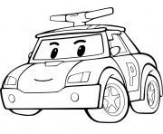 voiture de police materinelle facile dessin à colorier
