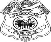 insigne de police dessin à colorier