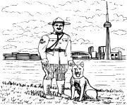 maitre chien dessin à colorier