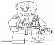 police lego avec des menottes dessin à colorier
