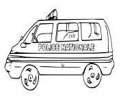 police nationale dessin à colorier