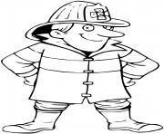 pompier dessin à colorier