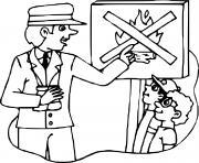 prevention des incendies dessin à colorier
