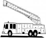 la grande echelle des pompiers dessin à colorier