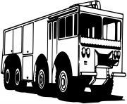 camion des pompiers dessin à colorier