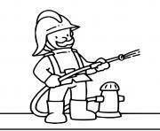 pompier maternelle dessin à colorier