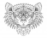 mandala tigre zen dessin à colorier