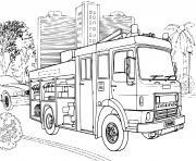 camion de pompier Dodge dessin à colorier
