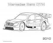Mercedes Benz Dtm 2010 dessin à colorier