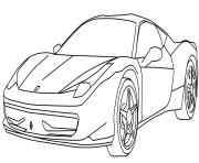 Coloriage petite voiture de sport dessin
