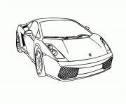 voitures lamborghini dessin à colorier