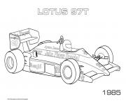 Coloriage Sport F1 Lotus 97t 1985