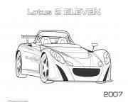 Lotus 2 Eleven 2007 dessin à colorier