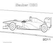 Sport F1 Sauber C30 2011 dessin à colorier