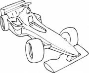Coloriage voiture Sport F1
