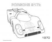 Porche 917k 1970 dessin à colorier