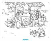 playmobil aime les chevaux dessin à colorier