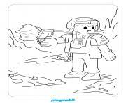 playmobil top agent secret dessin à colorier
