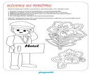 playmobil hotel decors de fenetre dessin à colorier