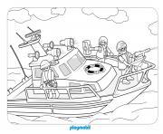 playmobil sauvetage mouvemente en mer dessin à colorier
