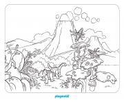playmobil dinosaures dessin à colorier